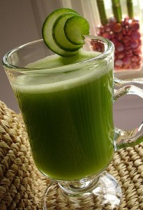 cucumber and celery juice