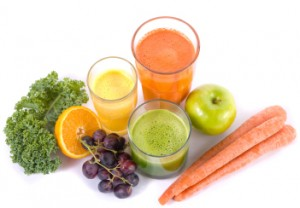 juicing benefits - range of colourful juices