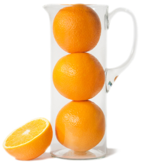 oranges in a jug