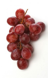juicy red grapes