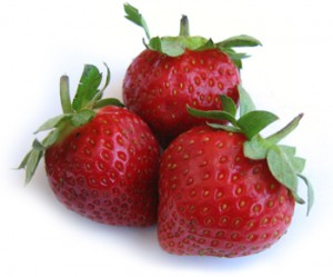 strawberries for Cucumber and Strawberry Frappe